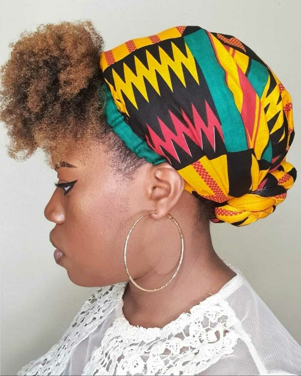 Kente Print AfroBonnets