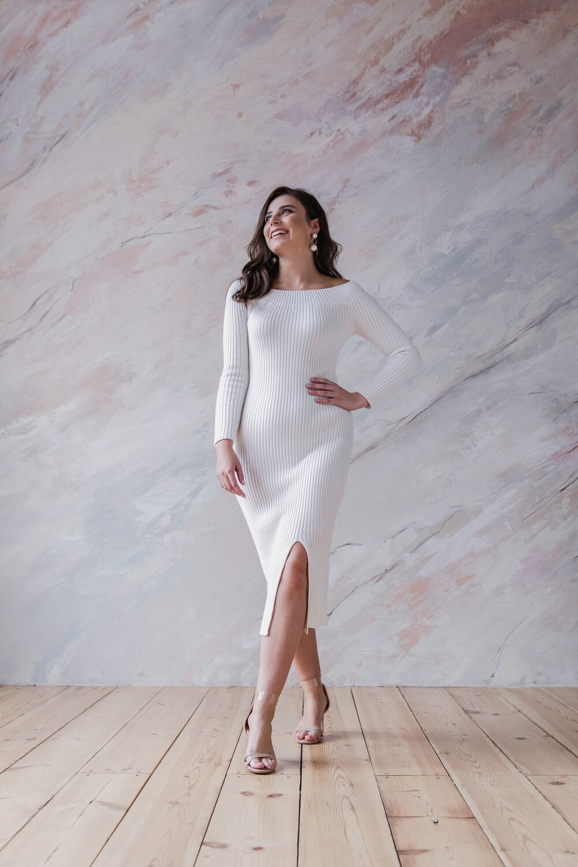 Вязаное платье миди Stephanie