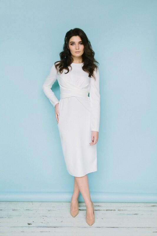Платье с завязками Jenn