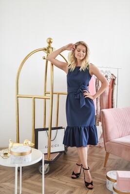 Платье-футляр с воланом Madeleine