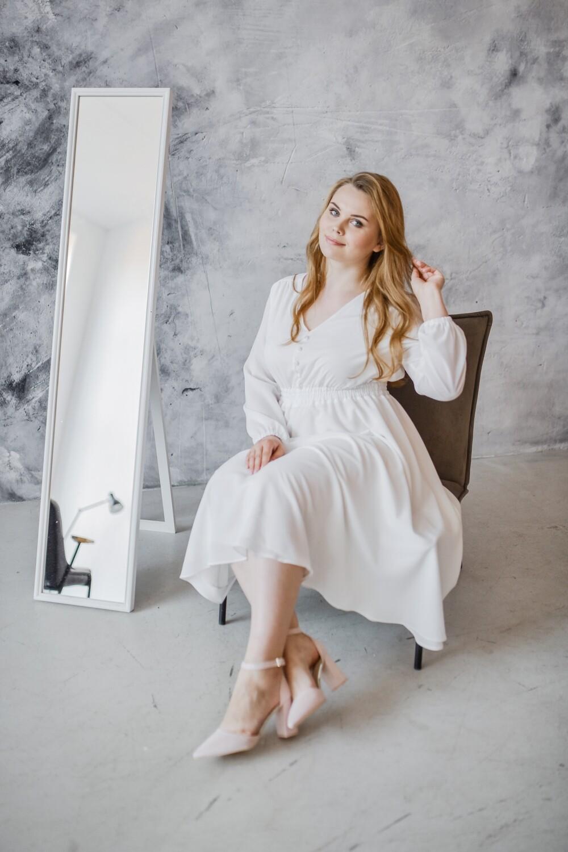 Платье с завышенной талией Milly Plus