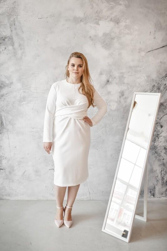 Платье с завязками Jenn Plus