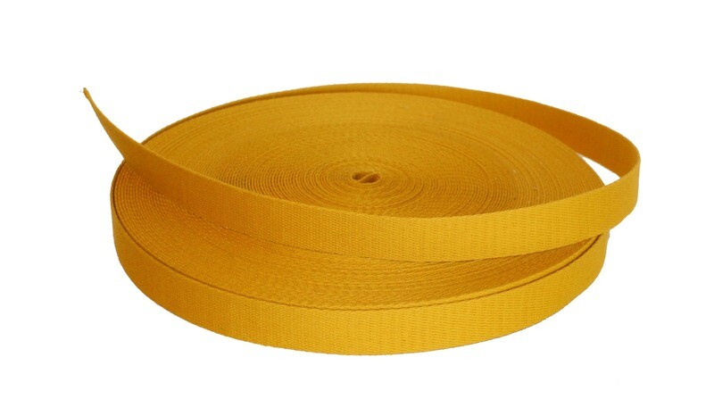 Brandwerend band 25mm / Fireproof webbing 25mm op rol van 25 meter