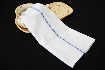 1 Dozen 100% Cotton Herringbone Blue Striped Dish Towels / Lint Free / Barber