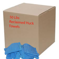 50 Lb. Box of Reclaimed Blue Huck Surgical Towels