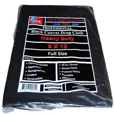 Black Canvas Drop Cloth - 9 X 12