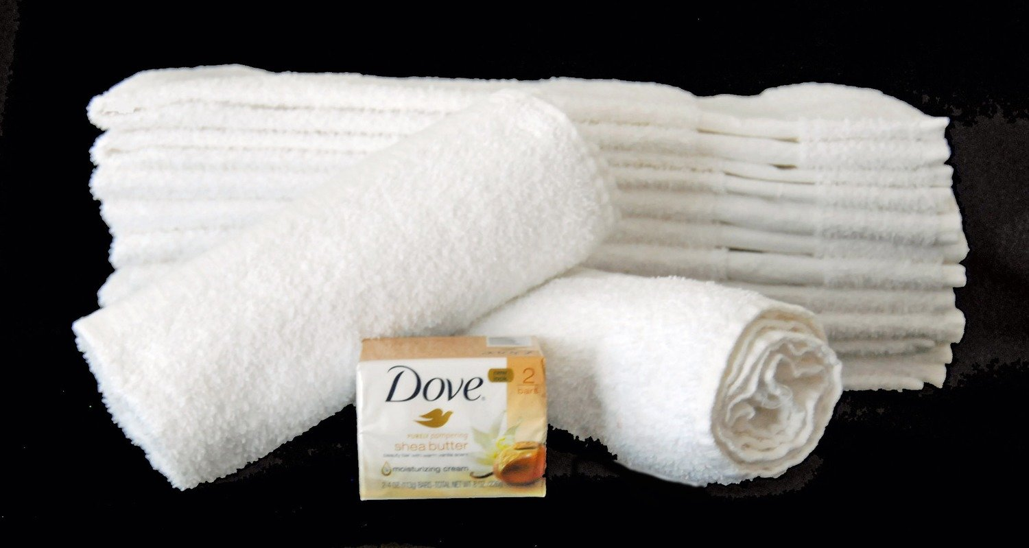 1 Doz.  Bath Towels - 22 X 44 - 100% Cotton (for Institutional use)