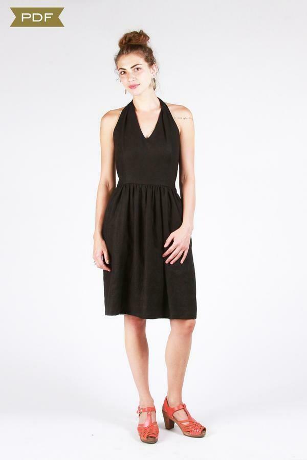 SH7 - Rose City halter dress