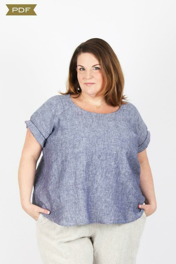 SH7 - Remy Raglan top curvy fit