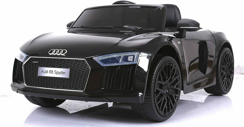 """Audi R8 SPAYDER 12V nero """"Macchina elettrica per bambini"""""""