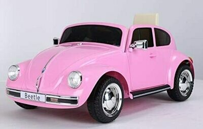 VW Beetle Retro, Rosa, 12V