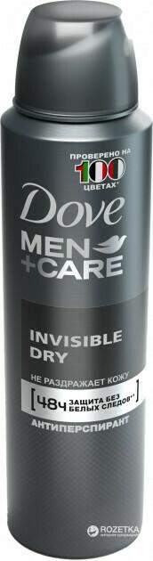 DOVE DEO SPRAY 150 MEN INVISIBLE DRY