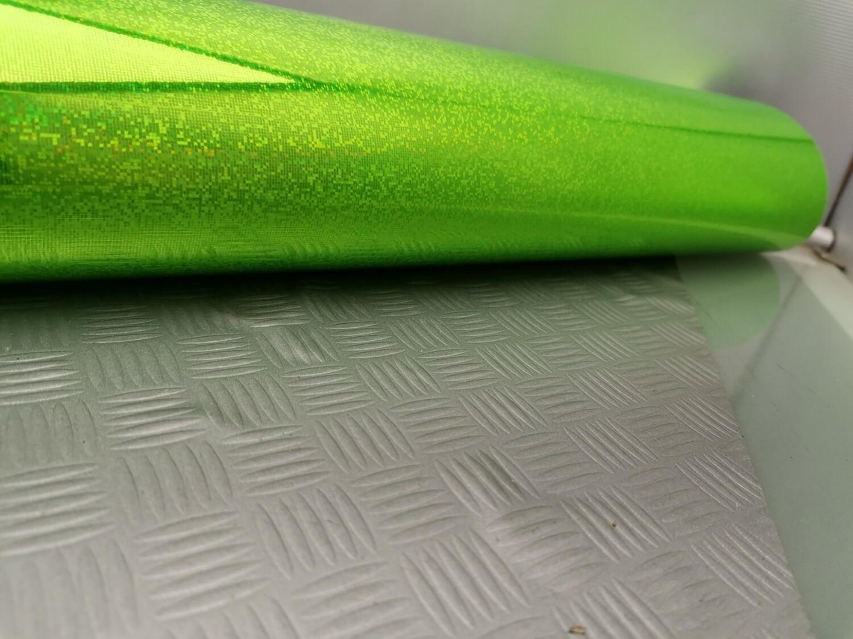 Plastica adesiva verde gliter 45 x 5 mt
