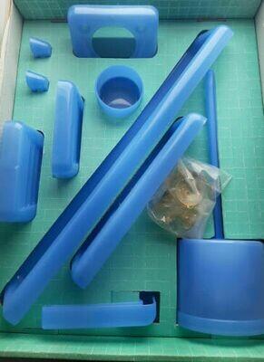Set accessori bagno GEDY kit 9 pezzi colore rosa e blu