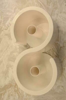 Porta rotolo doppio bianco Giostyle