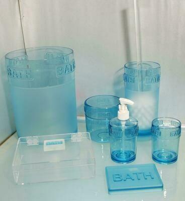 SET ACCESSORI BAGNO BATH BLU - 7 PZ