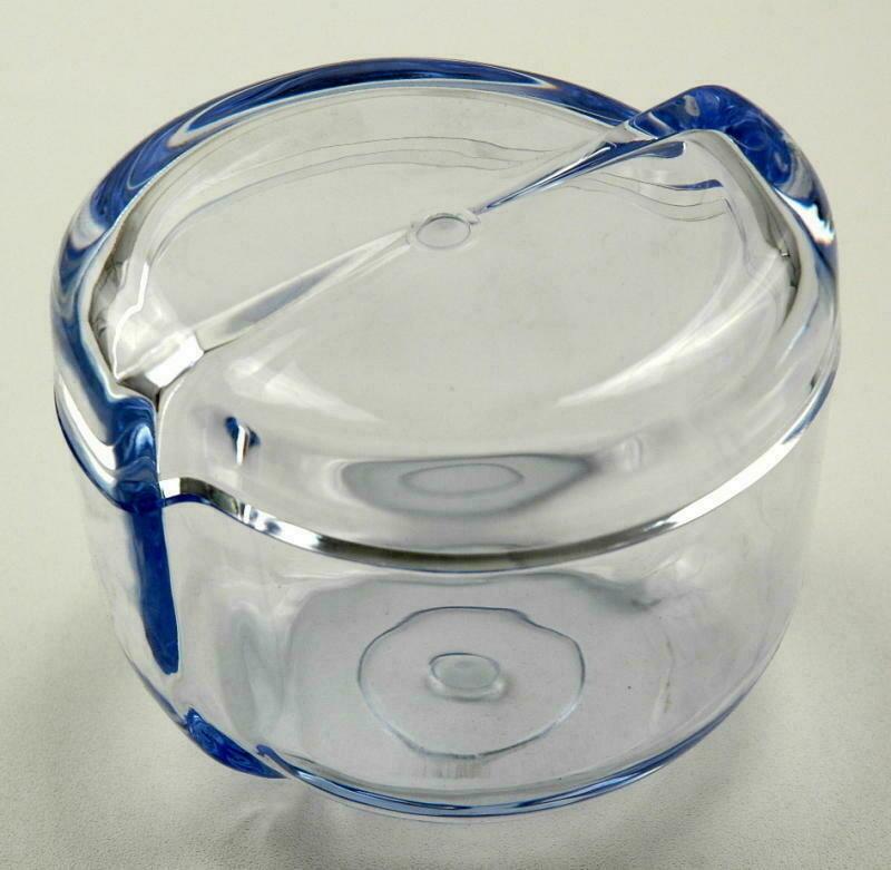 Barattolo porta cotone Transparente blu