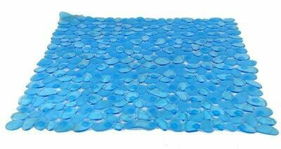Tappeto antiscivolo doccia blu con ventose antiscivolo e antimuffa Pvc cm 54x54