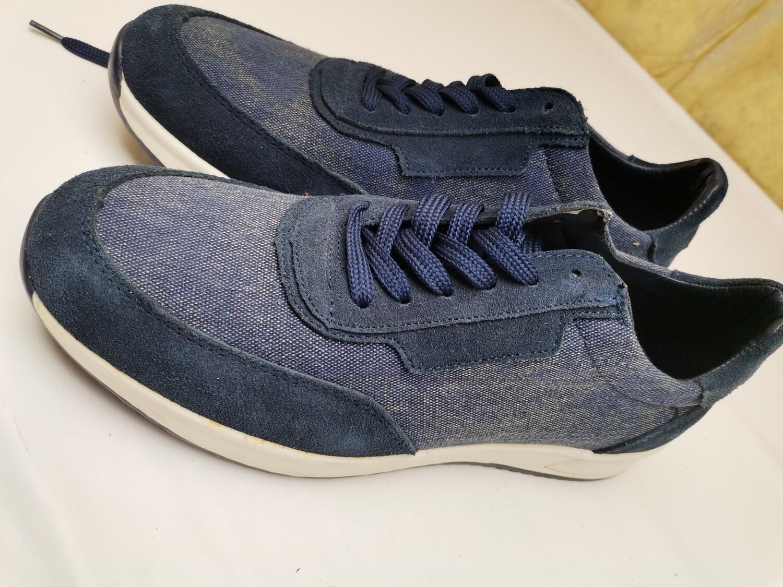 scarpe classica sportiva runner blu
