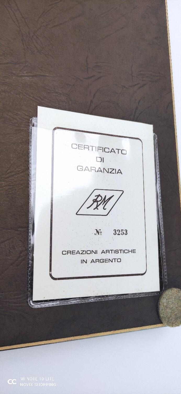 QUADRO ART DECO RM IN ARGENTO