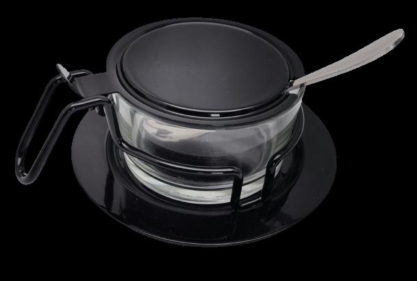 Zuccheriera / Formaggiera in Acciaio Inox/Vetro Morinox