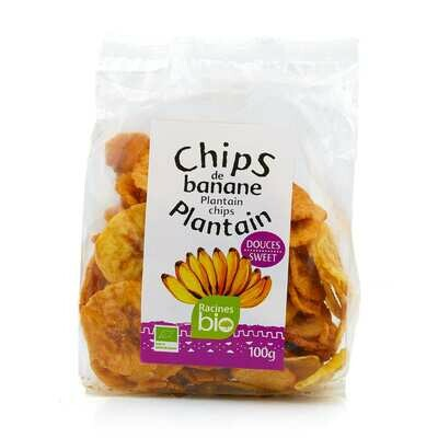 Chips de banane plantain douces bio