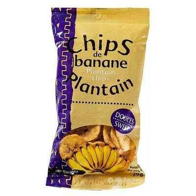 Chips de banane plantain sucrées