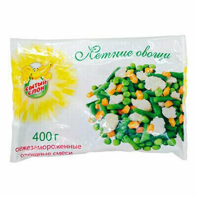 Летные овощи Сытый Слон фас.0,400г 10 шт.