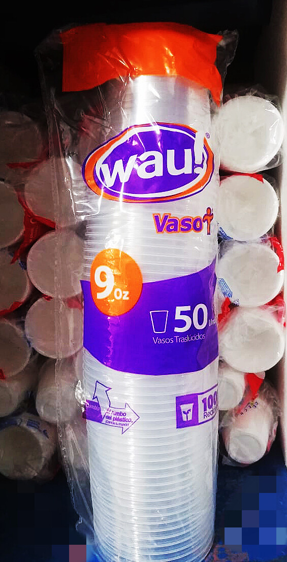 Vaso transparente WAU