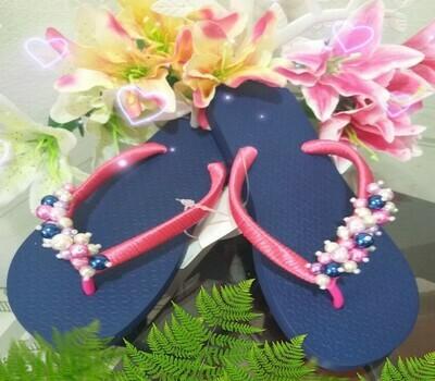 Sandalias decoradas Perlas