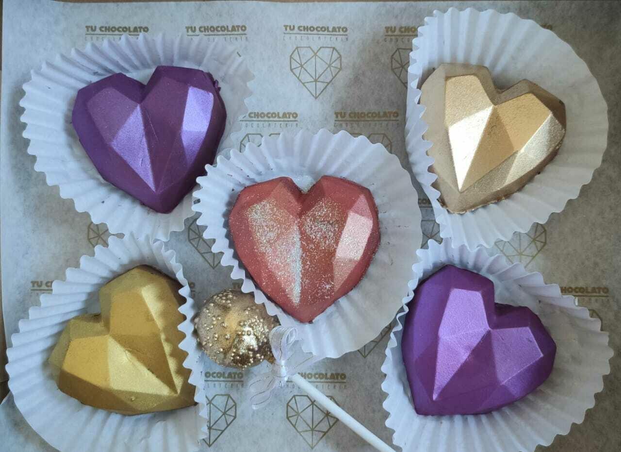 Mini corazones Chocolate