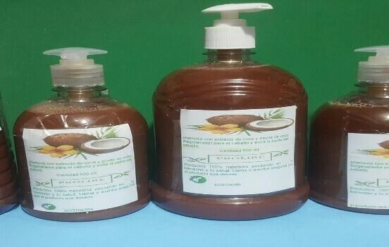 Shampoo con extracto de coco