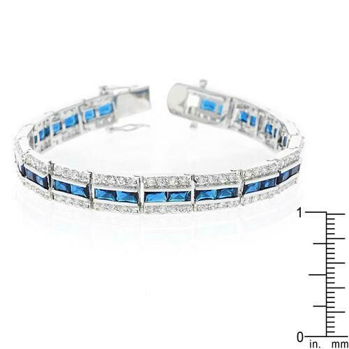 Balboa Blue Cubic Zirconia Bracelet