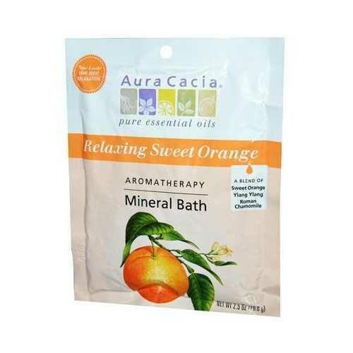 Aura Cacia Mineral Bath Relaxing Sweet Orange (6x2.5 Oz)
