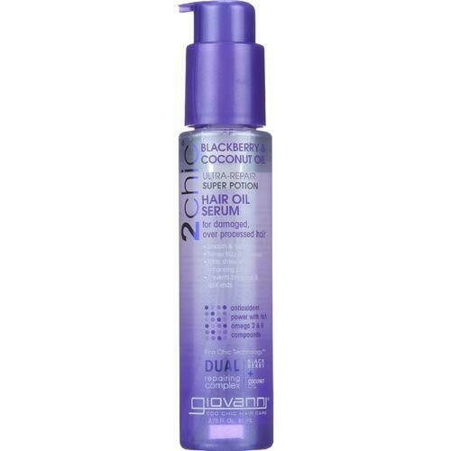 Giovanni Hair Care Products Hair Oil Serum - 2Chic - Repairing Super Potion - Blackberry and Coconut Milk - 2.75 oz - 1 each