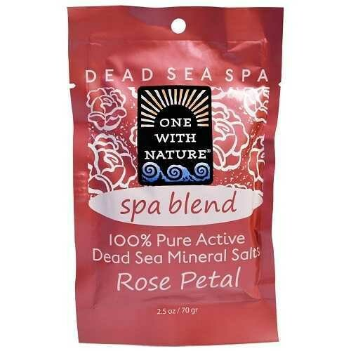 One With Nature O.W.N. Spa Blend, Rose Petal Bathsalts (6X2.5 OZ)
