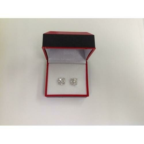 Snowflake CZ Earring in Gift Box