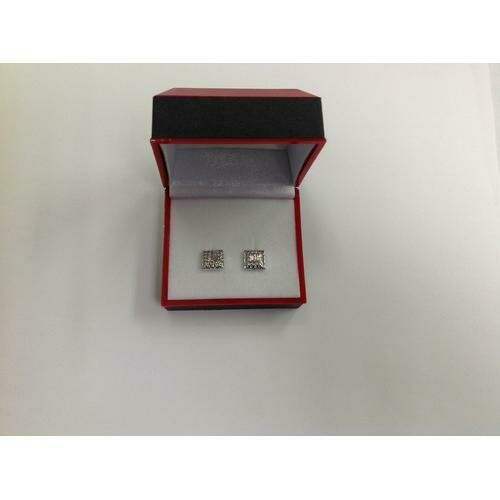 Rhodium-plated Earring with CZ in Gift Box
