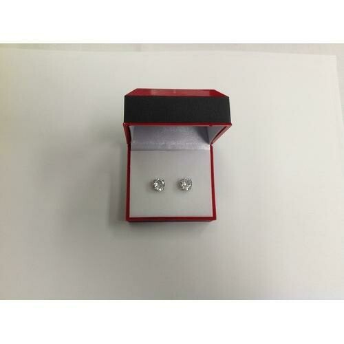 8mm CZ Stud Earring in Gift Box