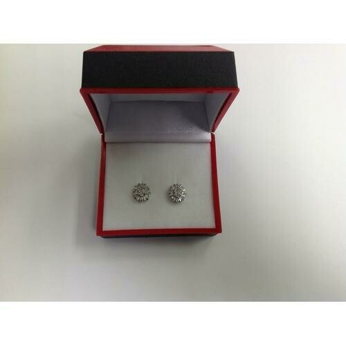 Clear CZ Stud Earring in Gift Box