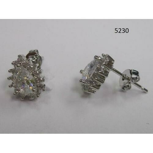 Pear-Shaped CZ Earring Clear