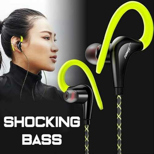 Ear Hook Sport Earphone Super Bass Sweatproof Stereo Headset For Smartphone