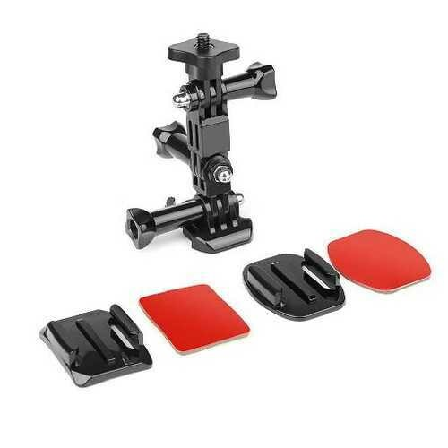 SHOOT Action Camera Helmet Tripod Mounts for GoPro Hero 7 5 6 Xiaomi Yi 4K SJCAM SJ4000 SJ5000 SJ7 h9 Go Pro 6 7 Accessories Set