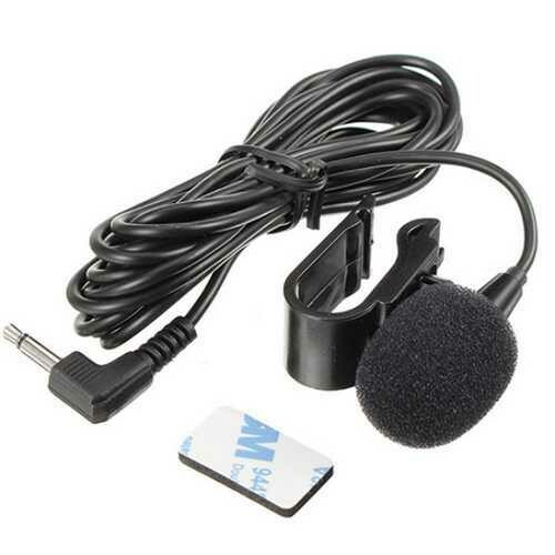 Wired 3.5 mm Stereo Jack Mini Car Microphone External With Clip