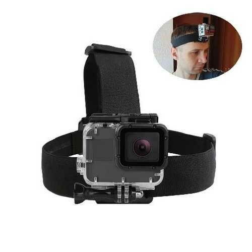 SHOOT Elastic Harness Head Strap for GoPro Hero 7 5 6 3 4 Session Sjcam Sj4000 Yi 4K Eken h9 Camera Mount for Go Pro 7 Accessory