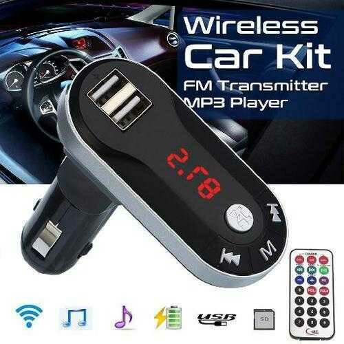 New Bluetooth Car FM Transmitter Modulator Car mp3 Player Wireless Handsfree Music with USB interface Car USB TF SD Remote 11.8
