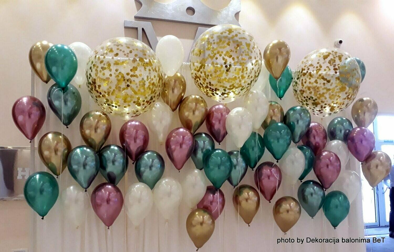 Hrom baloni i baloni sa konfetama