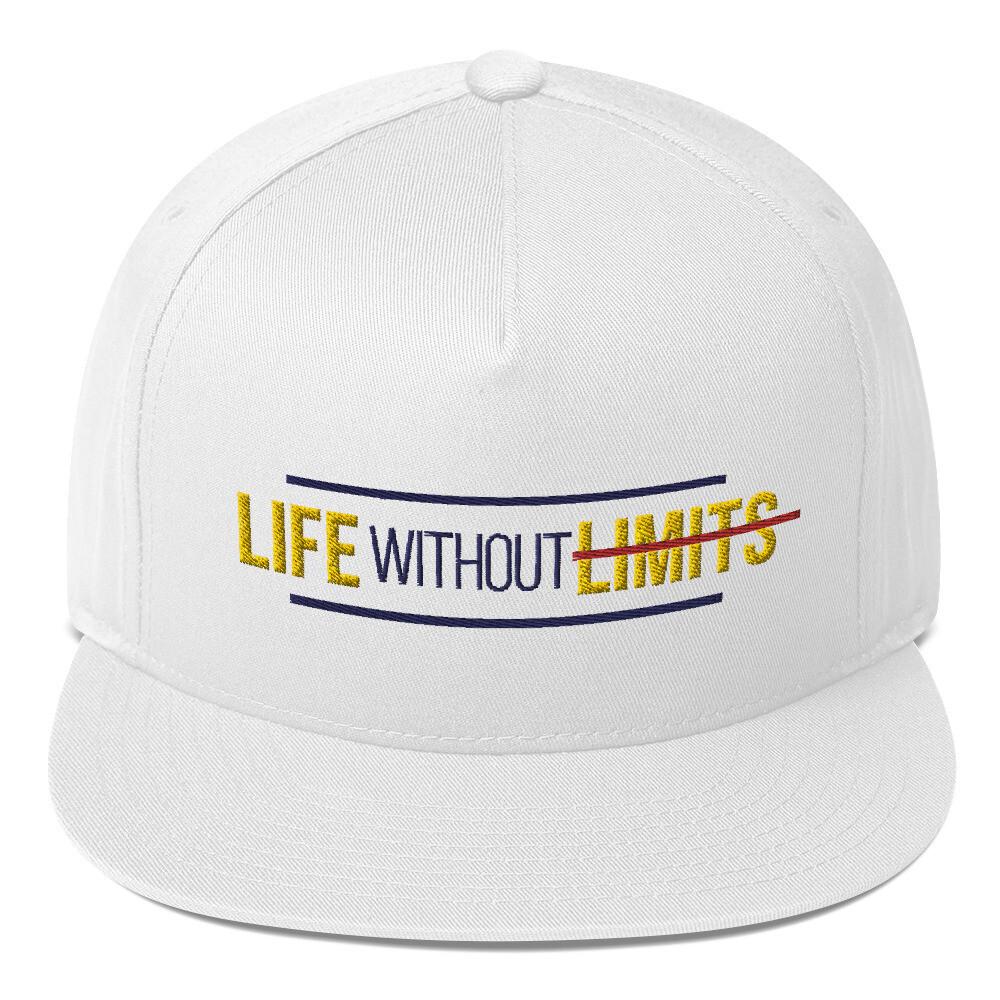 [LIFE WITHOUT LIMITS] Flat Bill Cap/ navy & yellow writing