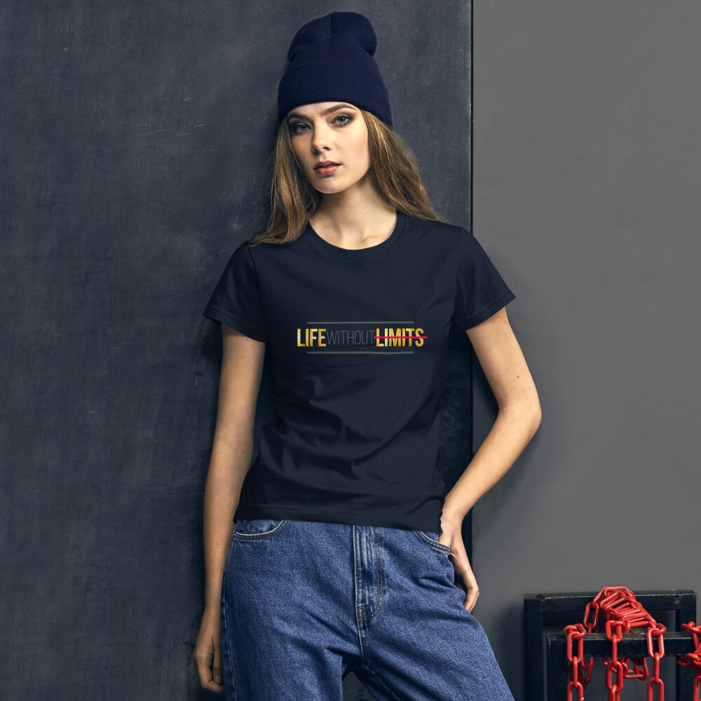 [LIFE WITHOUT LIMITS] Women's short sleeve t-shirt