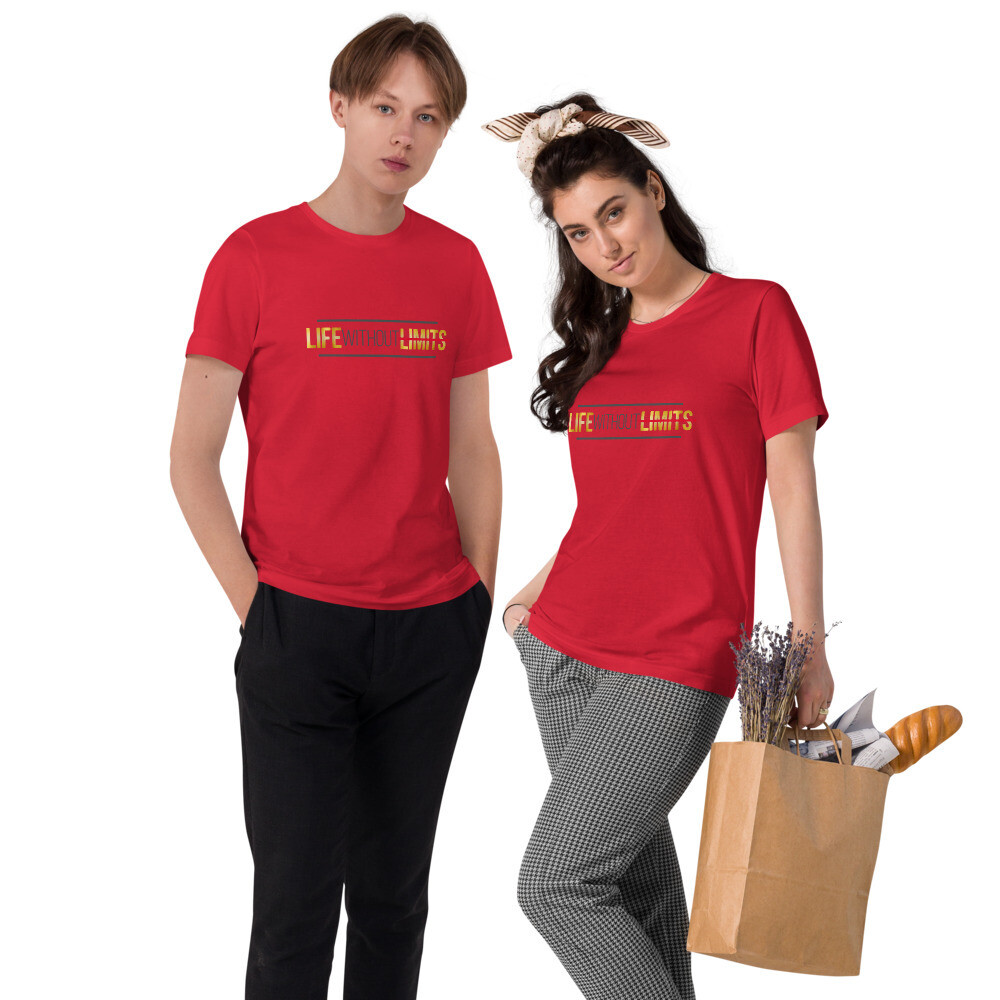 [LIFE WITHOUT LIMITS] Unisex Organic Cotton T-Shirt